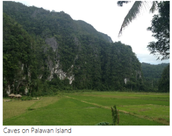 Caves on Palawan Island